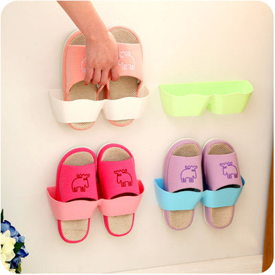 1pc Creative Affordable Creative Bathroom Shoes Storage Shelf Suction Wall Shoes Organizers Hanger  UpCube- upcube