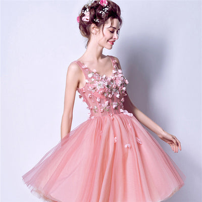 It s YiiYa Cocktail Dress 2018 Party V-Neck Sleevless Flower Appliques Fashion  Designer Cocktail Gowns a6d15c767ffd