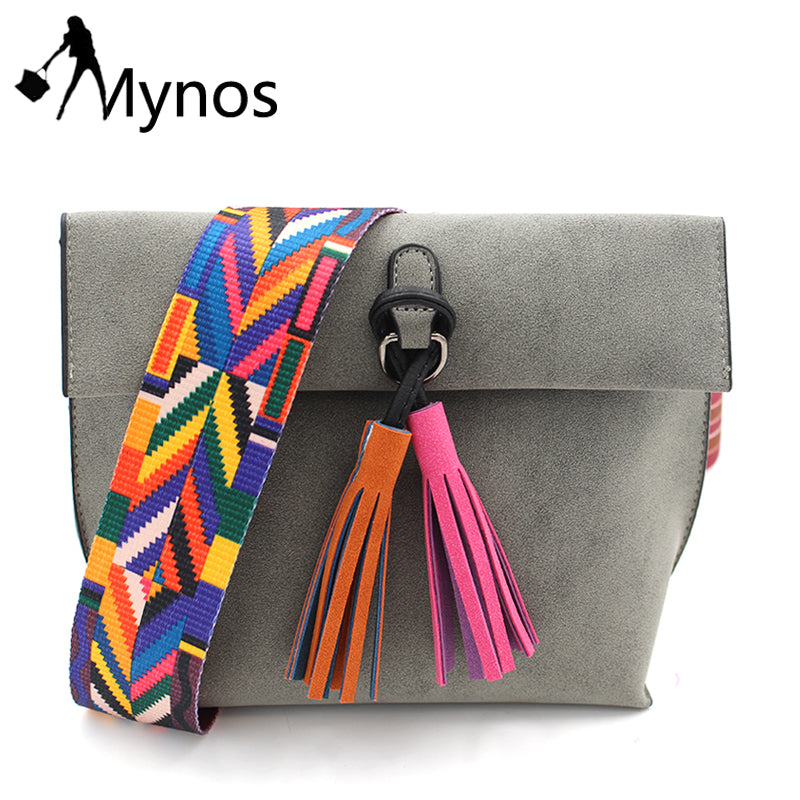 MYNOS Women Tassel Crossbody Bag Female Designer Shoulder Bags Lady Vintage Messenger  Bag Purse Bolsas Feminina 60f68c815a7da