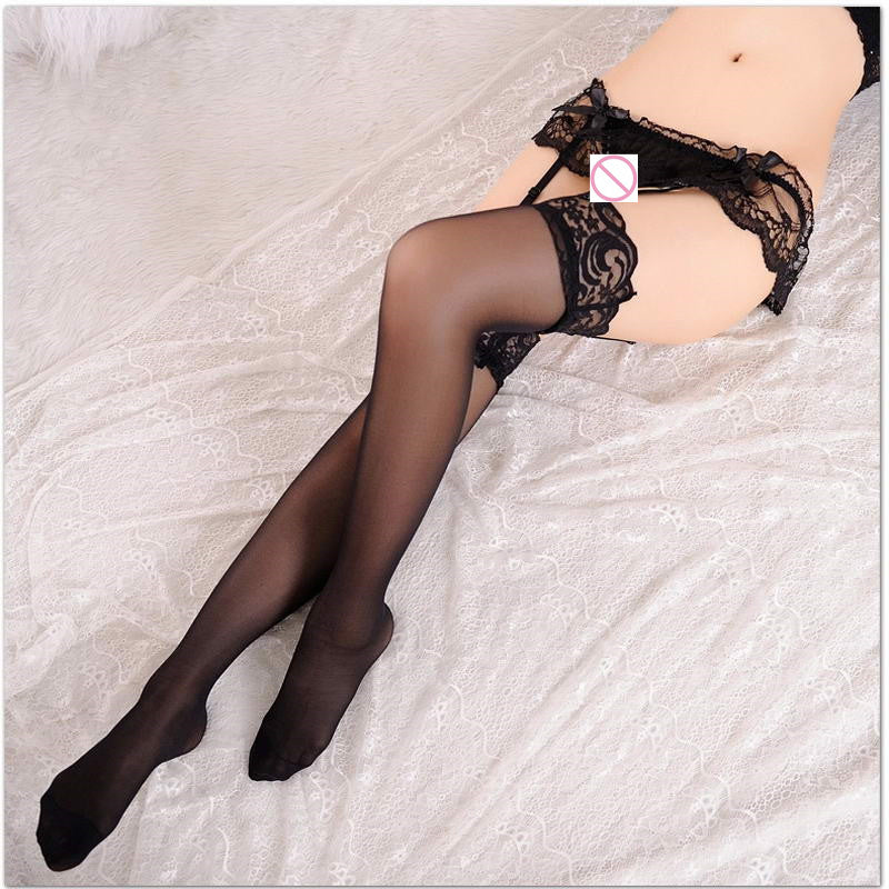 Best 3 Pcs / Lot Sexy Girls T- Back G- String + Stockings + Garter Belt Suspender Women Sheer Lace Tighs Lingerie Suspender Sets