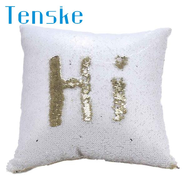 Hot Pretty Fashion Heaven DIY Two Tone Glitter Sequins Throw Pillows Cushion Case Sofa Car Cover dropshipping Free Shipping Nov7
