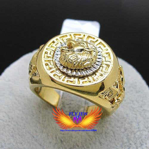 Hot Selling, Hottest gold Color Nickle free Exquisite Engrave Lion head And Eagle Big Finger Jewelry Rings For Men And Women