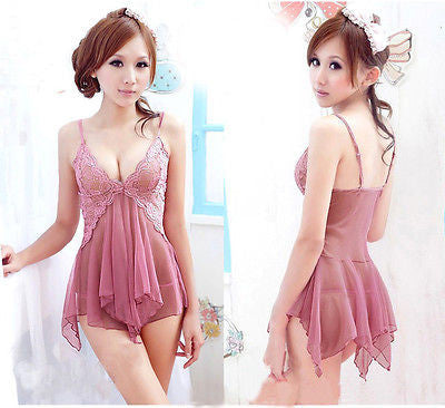 Hot Sexy Babydoll Lingerie Nightgown Sleepwear Nightie Lace Chemise Bridal