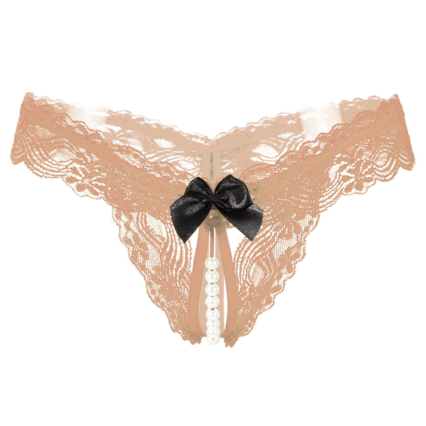 878194266ff2 Hot Sexy Trendy Women's Underwear Panties Comfortable Beading Knickers Bow Thongs  G-string Lace Briefs