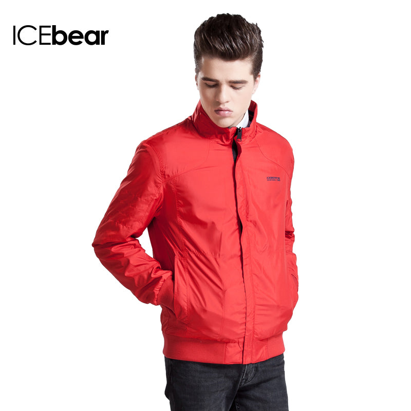 ICEbear 2016 Double-Sided Wear 3 Colors Thin Cotton Spring Men Casual With Zipper Pocket Short Jacket Coat 15MJ653