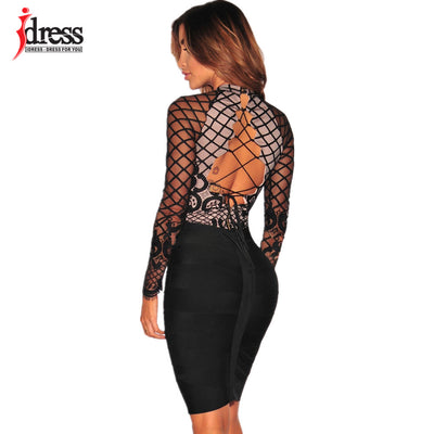 e8e96f05f6 IDress Women Shorts Rompers 2017 Elegant Sexy Lace Up One Piece Bodycon  Bodysuit Body Femme Manche