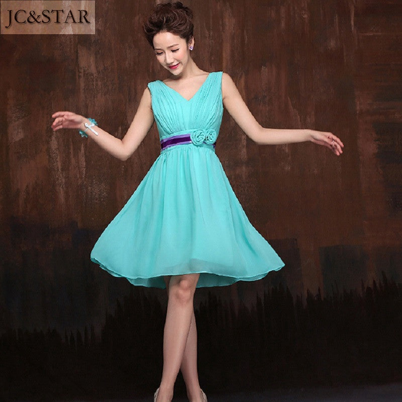 Turquoise Bridesmaid Dresses Cheap | Jc Star Sexy Short Purple Turquoise Bridesmaid Dresses Coral Teal Navy
