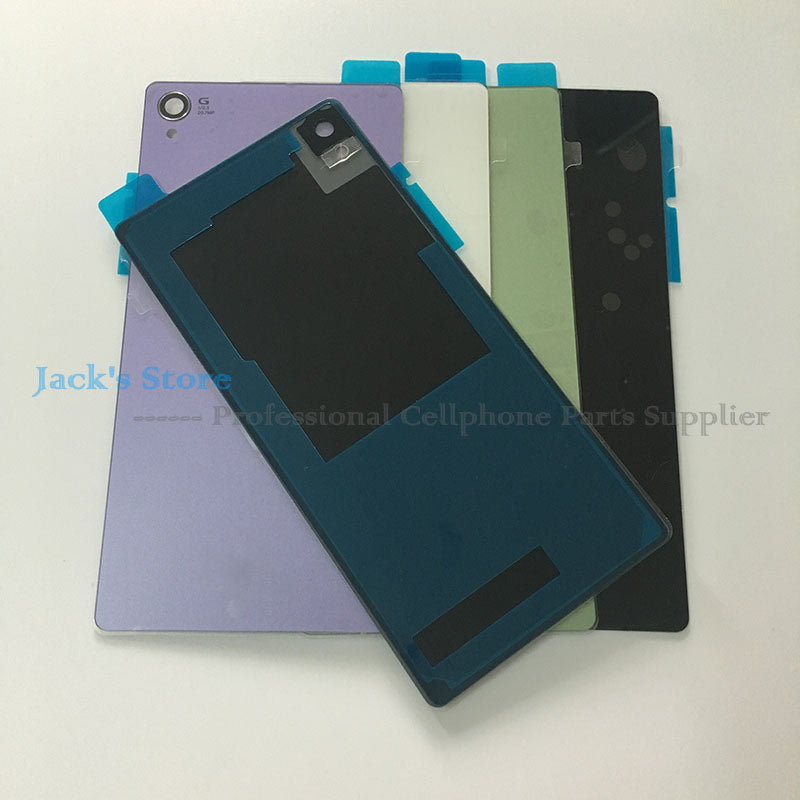 Jedx For Sony Xperia Z3 D6603 D6643 D6653 Back Glass Battry Cover Door Housing Cover Case With Nfc Waterproof Sticker