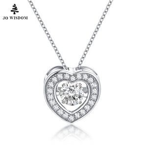 JO WISDOM Heart Pendant necklaces Solid 925 Sterling Sliver Jewelry Real Natural Topaz Pendants Women Necklace Charm for Women