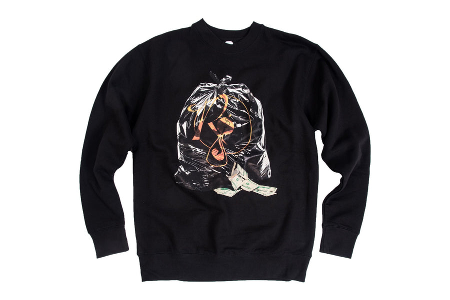 Rocafella Money Bag Pullover Crew - Black