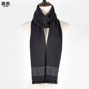 Luxury Brand New Fashion Cotton&Wool Men Boy Designer Scarf Long Hight Quality Winter Scarves With Tassel 180*30cm LA005