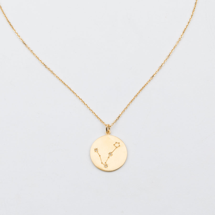 14K Gold Vermeil Diamond Constellation Pisces Necklace - upcube