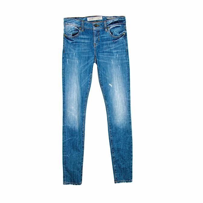 GUESS Mid Rise Skinny Jeans