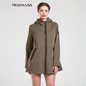 MOHNASS 2016 woman trench coat 2016 Spring New Arrivals Plus Size women Windbreaker Autumn Casual Clothing B7466-1