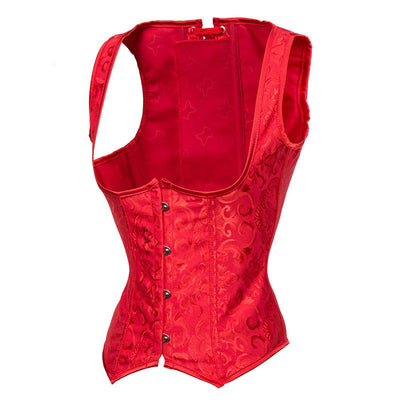 4370d88f10a MOONIGHT Red Underbust Corset Vest Bustier Top Plus Size 6XL Corpetes E  Espartilhos Sexy Corsets And