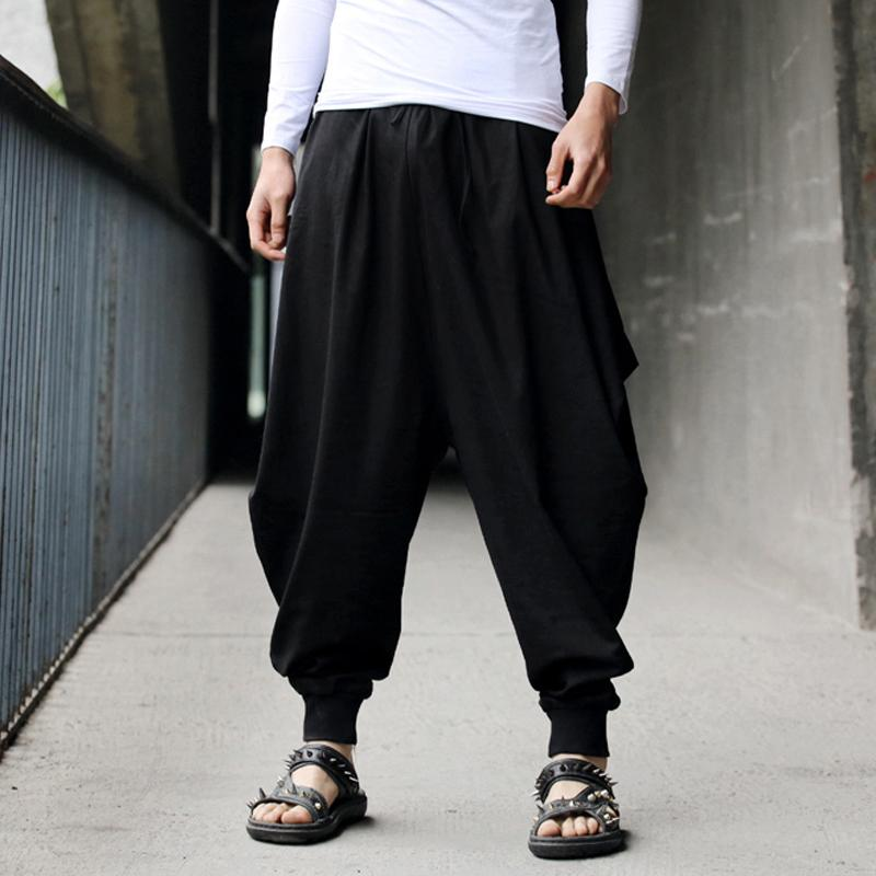 Mens Pants Summer Style Brand Those days men's retro-casual custom original design hemp pants harem pants cool Hip Hop Pants