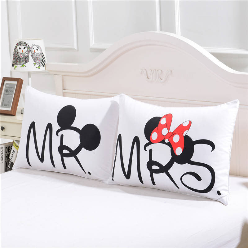 mickey mouse bedding set heart bedding plain printed sheet set christmas gift soft home textiles bedroom - Mickey Mouse Bedding