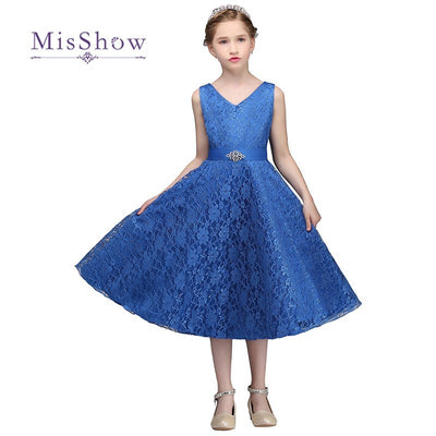 Misshow Pretty Princess Lace Flower Girl Dresses For Weddings 2017 Tea