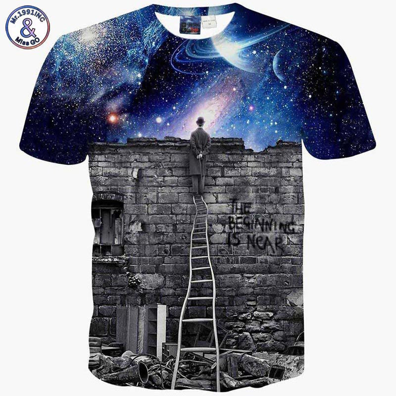 Mr.1991inc New Fashion Men/womens Sweatshirts 3d Print A Person Watching Space Meteor Shower Casual Galaxy Hoodies Men's Clothing