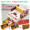 New TV Video Game Console FCompact Classic Family TV Game Player jeux juegos +3pcs Game Cards Send With Retail Box Free Shipping