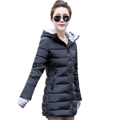56c823c2483de New Wadded Jacket Female Women Winter Jacket Down Cotton Coat Slim Parkas  Ladies Plus Size Womens