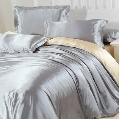 New Arrive Imetated Silk Bedding Set Home Textile Bed Linen Set Clothing Of  Bed Bedcloth Soft