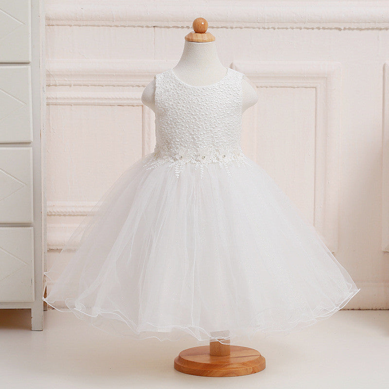 New vintage lace flower girl dresses for weddings knee red pink ...