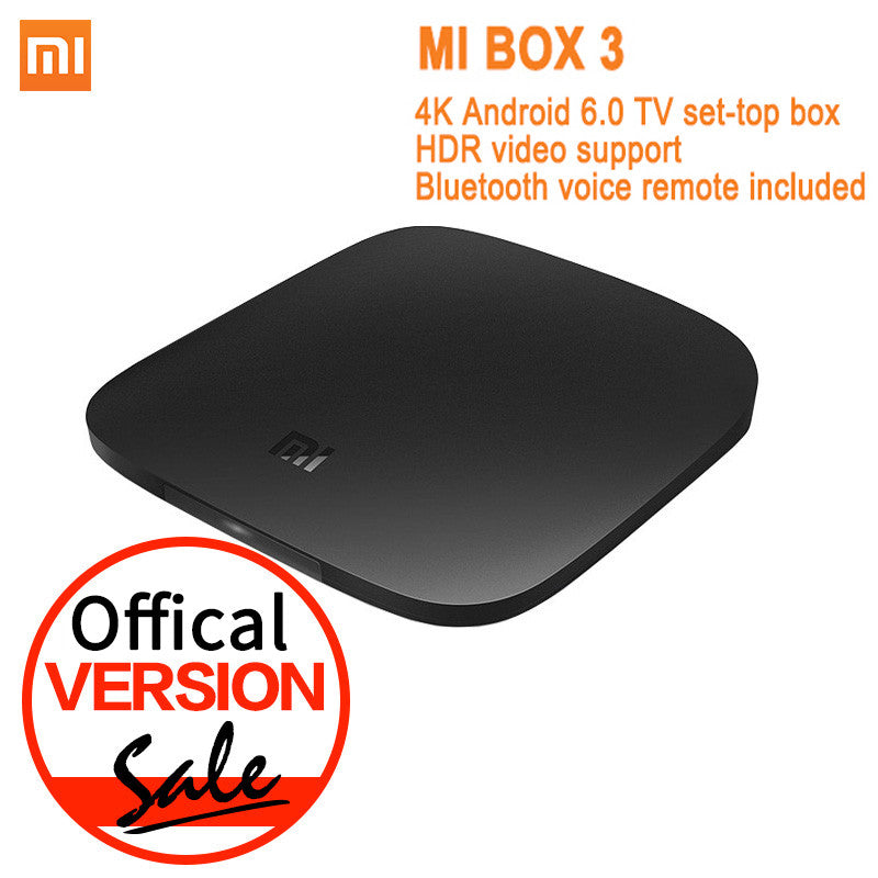 Offical Version Xiaomi Mi TV Box 3 Android 6 0 4K 8GB HD WiFi Bluetooth  Multi-language Youtube DTS Dolby IPTV Smart Media Player