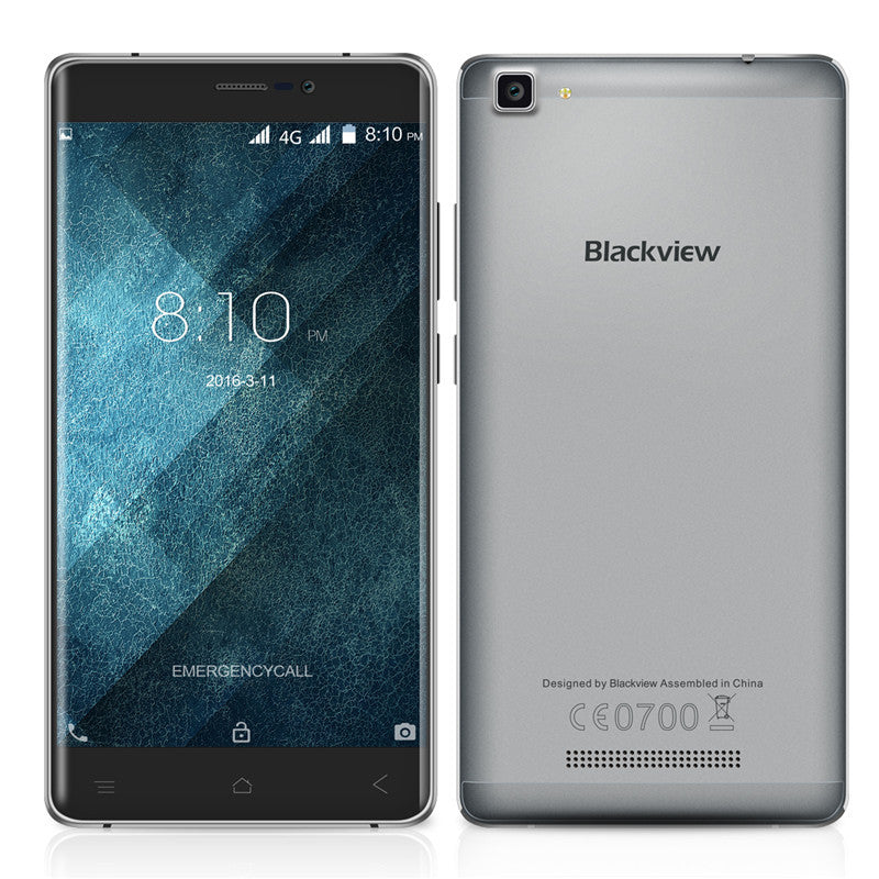 "Original Blackview A8 MAX Cell phone  5.5"" Screen Android 6.0  MTK6737 Quad Core 2GB RAM 16GB ROM 8MP 4G LTE Smartphone"