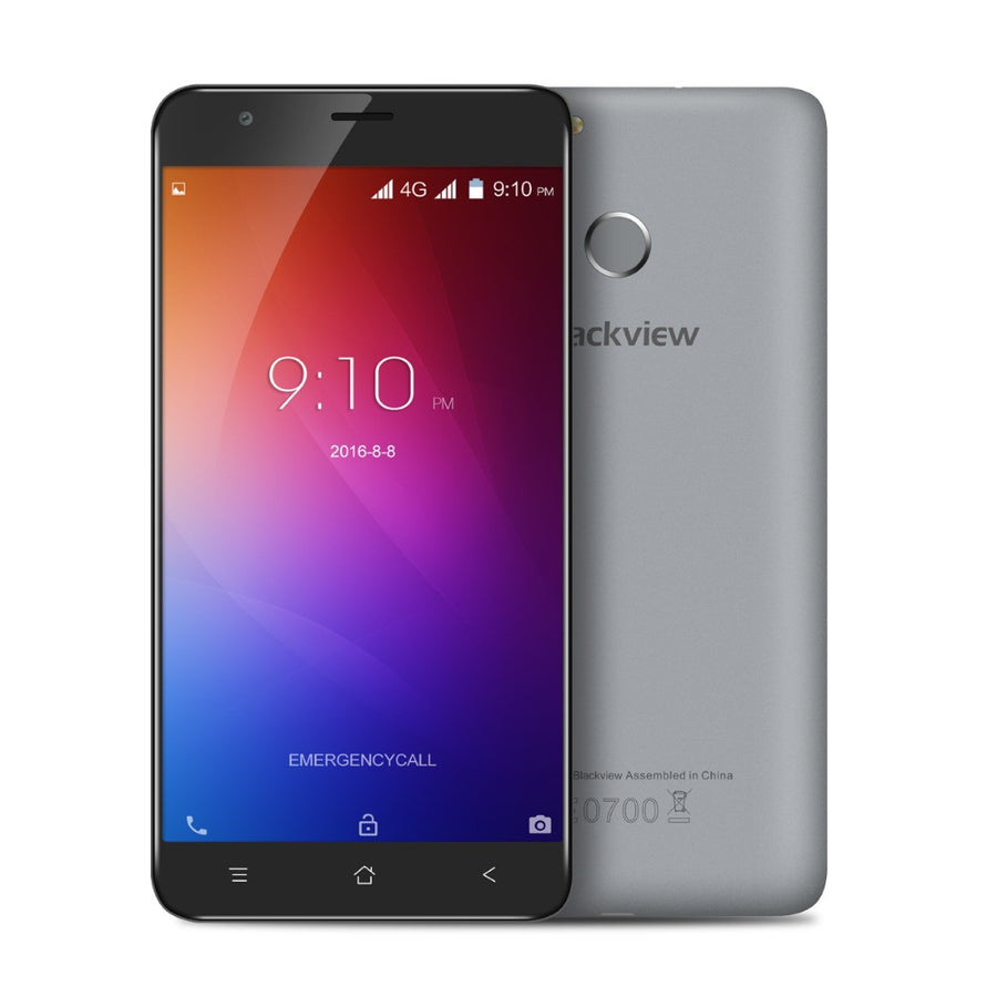 "Original Blackview E7S Smartphone  5.5"" Screen MT6580A Quad Core Android 6.0 8MP 2GB RAM 16GB ROM 8MP Fingerprint Cell Phone"