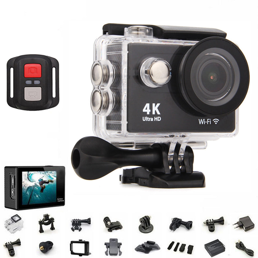 Action Camera H3r Ultra Hd 4k Bult In Remote Control Cam Cameras Original H9 H9r Wifi 1080p 60fps 170d Go 30m Waterproof