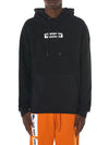 'Madness' Reverse Fleece Hooded Sweater (P17W102001-BLACK) - upcube