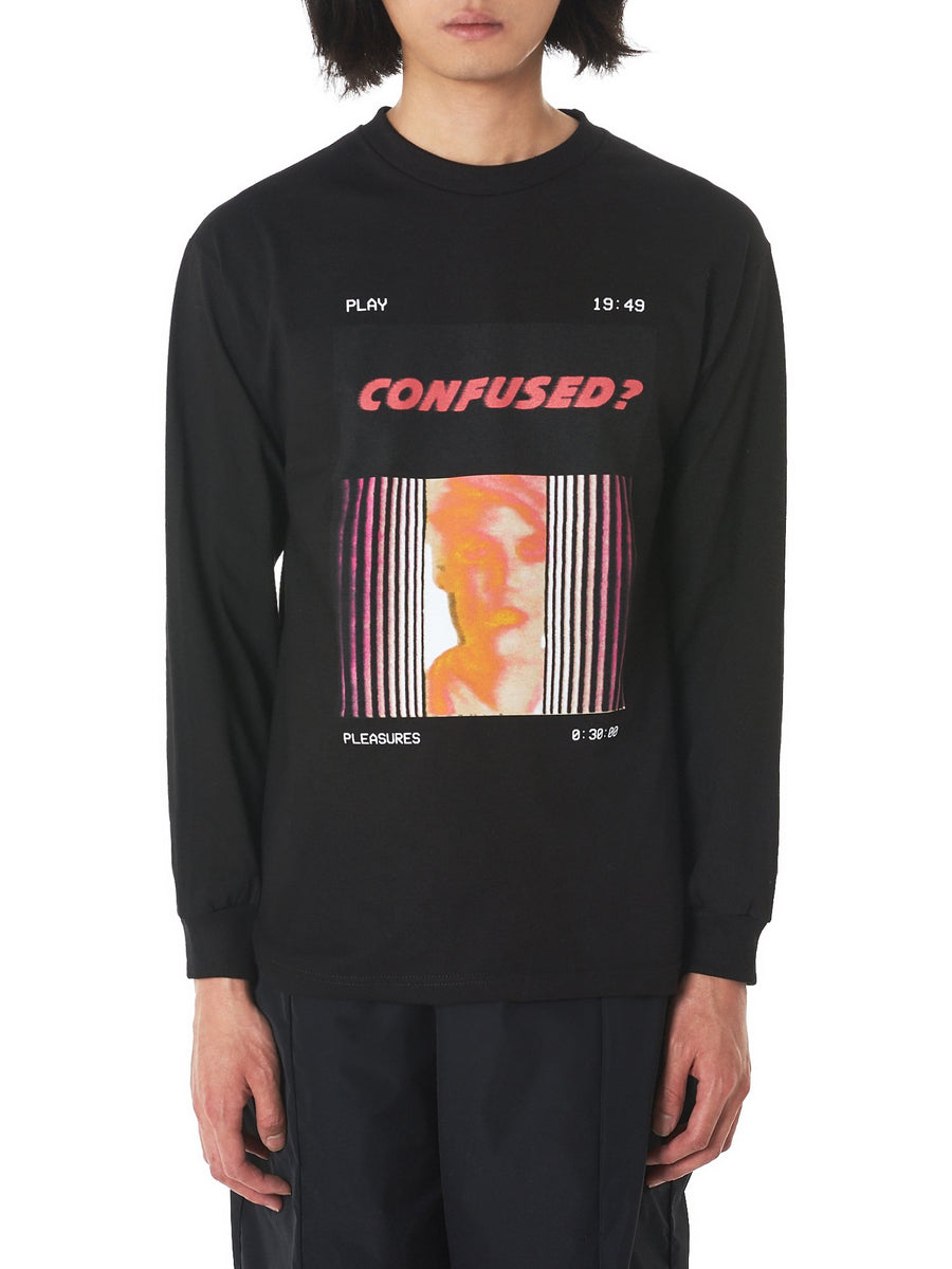 'Confused' Long Sleeve Tee (P18S101011-BLACK) - upcube