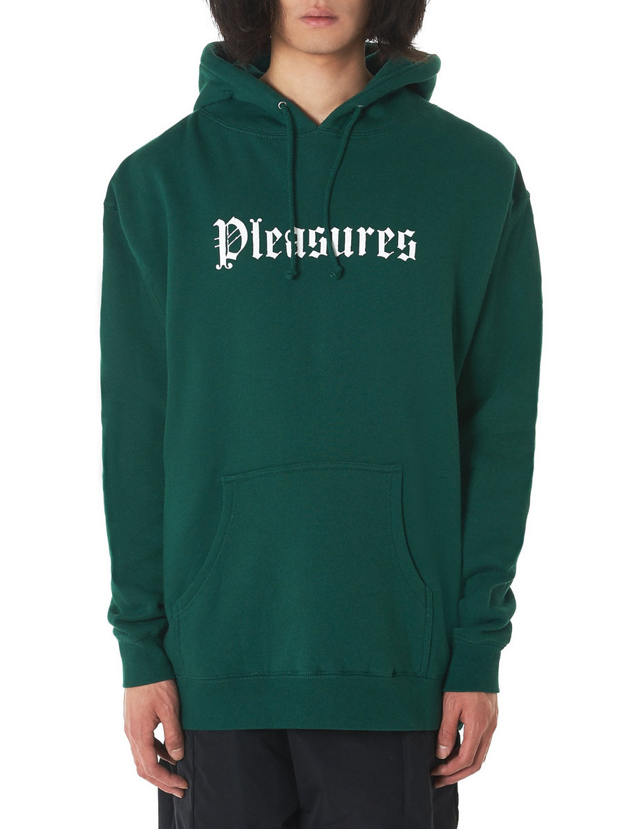 'Violence' Hooded Pullover (P18S102017-DARK-GREEN) - upcube
