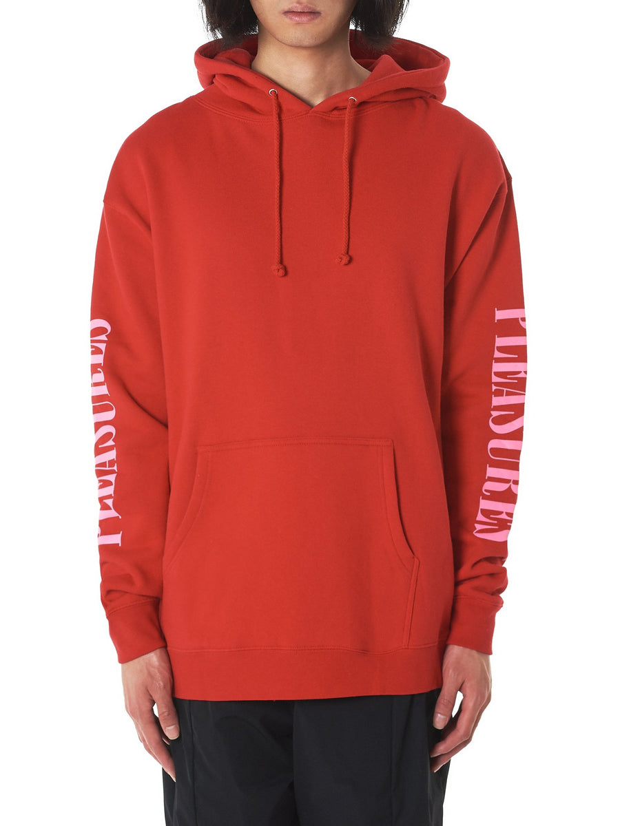'Mark Of The Beast' Hooded Pullover (P18S102025-RED) - upcube