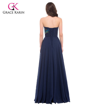 Peacock Dress Grace Karin Purple Evening Dresses 2017 New Arrival Long  Party Dress Plus size Formal 6035a2e52ee5
