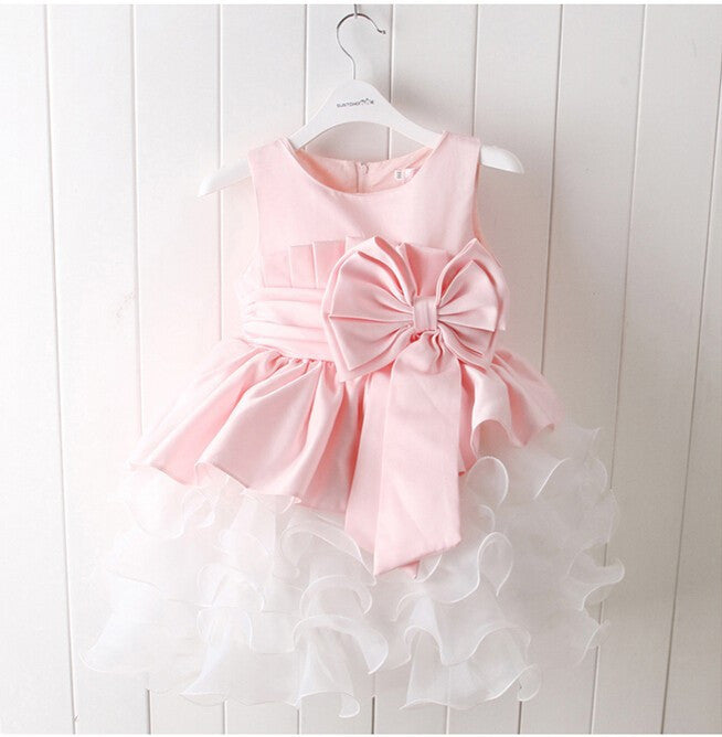 Pink Tulle Wedding Gowns Kids Formal Party Christening Communion Flower  Girl Dresses Pageant Dress for Little 37331a457044