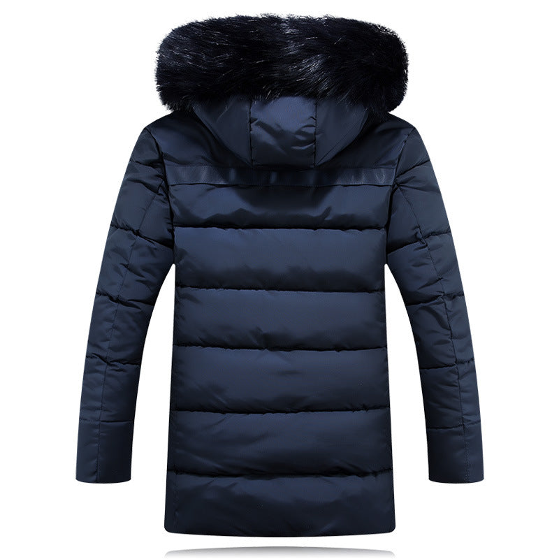 72f3b8d96c1 Plus size 4XL 5XL winter jacket Men Solid Long Down cotton Jacket Fashion  Wadded Thicken