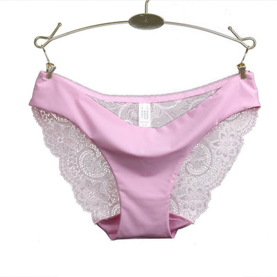 0a869e483f7 RE Ladies underwear woman panties Victoria fancy lace calcinha renda sexy  panties for women traceless crotch