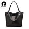 REALER brand genuine leather bag women serpentine shoulder bag ladies high quality handbag