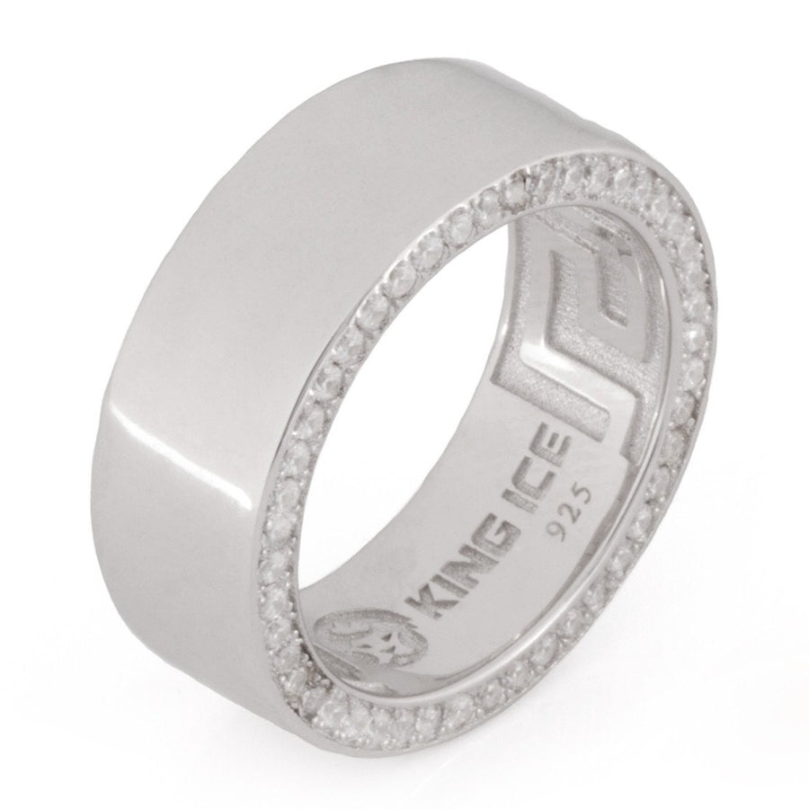 .925 Sterling Silver Wedding Band (8mm) - upcube