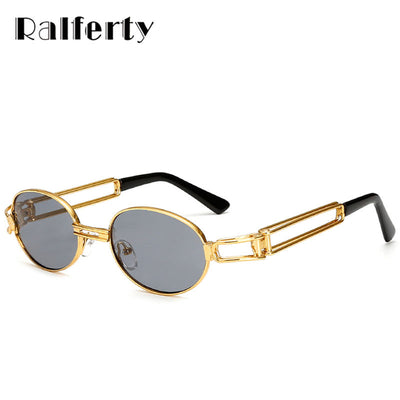 62d99a4304c5 Ralferty Vintage Small Steampunk Goggles Round Sunglasses Men Women Retro  Gothic Sun Glasses Gold Glasses Frame