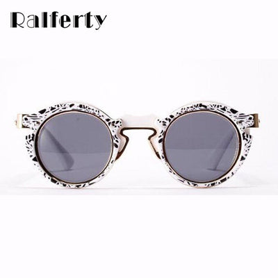 71d0233df4 Ralferty Vintage Steampunk Goggles Round Sunglasses Women Men Brand  Designer Retro Gothic Steam Punk Sun Glasses