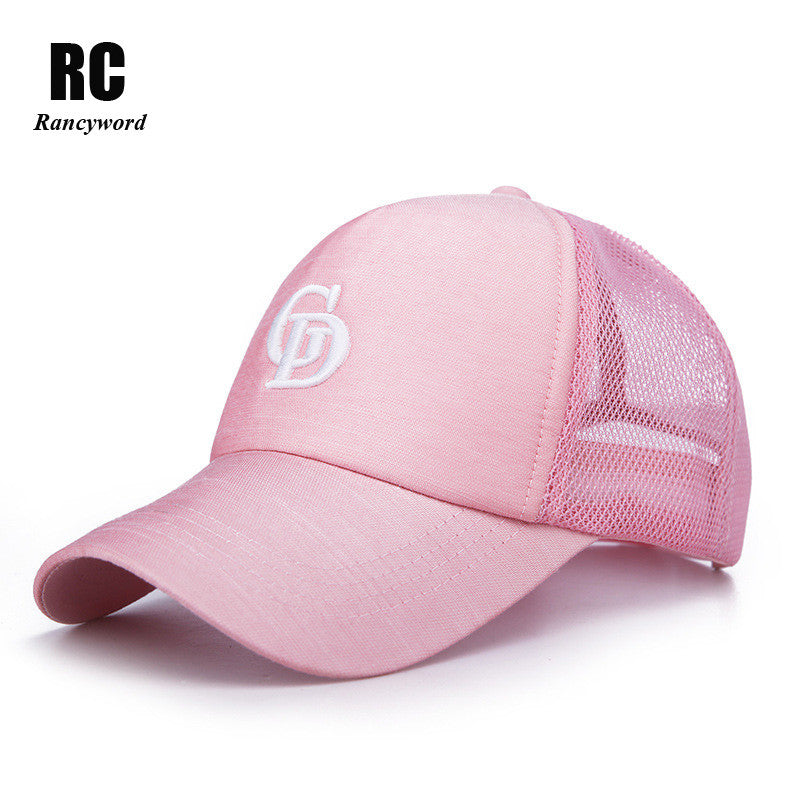 Rancyword  Branded Summer Mesh Baseball Caps Women 2017 Embroidery Letter  Sun Hats Lady Snapback 4c5668dcc6e