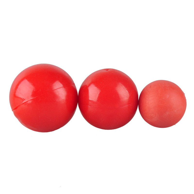 Red Natural Rubber Elastic Pet Dog Ball Toys Bite Resistant Training Balls Pets Dogs Toy for Puppy Small Large Dog