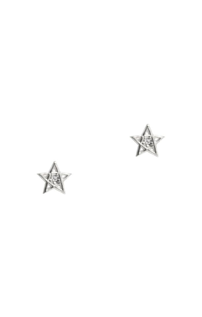 STAR STUD WITH CZ ACCENT