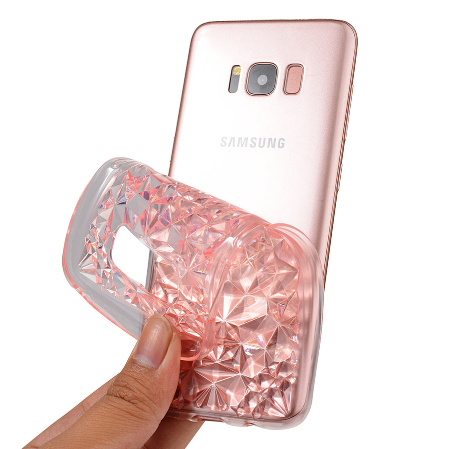 SULADA Case For Samsung Galaxy S8 S8 Plus Luxury Crystal Diamond Pattern TPU Silicon Soft Back Cover For Samsung Galaxy S7 edge