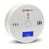 SUNLUXY 85dB Alarm Wireless CO Carbon Monoxide Sensor Detector Warning Alarm LCD Display Home Indoor Security System Protector