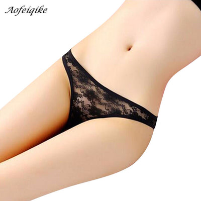 afb2842bf18 Sexy Women's Panties G Strings Thongs C-String Women Panties Lace Underwear  Briefs See Through