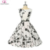 Short Prom Dresses 2017 Little Black Dress Robe Vintage Summer Grace Karin Polka Dot Floral Swing Pin Up Plus Size Formal Gowns